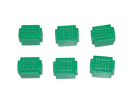 6 x Breadboard of 25 holes for Combined Breadboards: Green