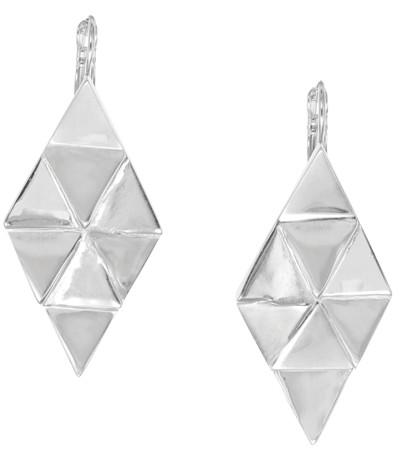 Ori Tao Big Diamond French Hook Earrings