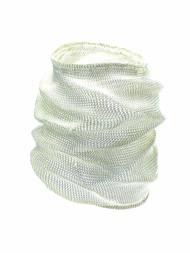 Woven Hand Knit Malleable Silver Bracelet Long BLB67S