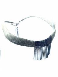 Woven Hand Knit Two Tone Choker BLN14M