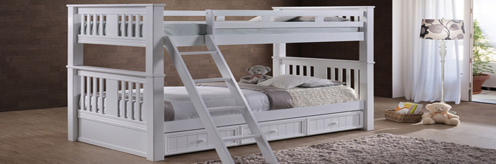 Bunk Bed Twin over Twin White