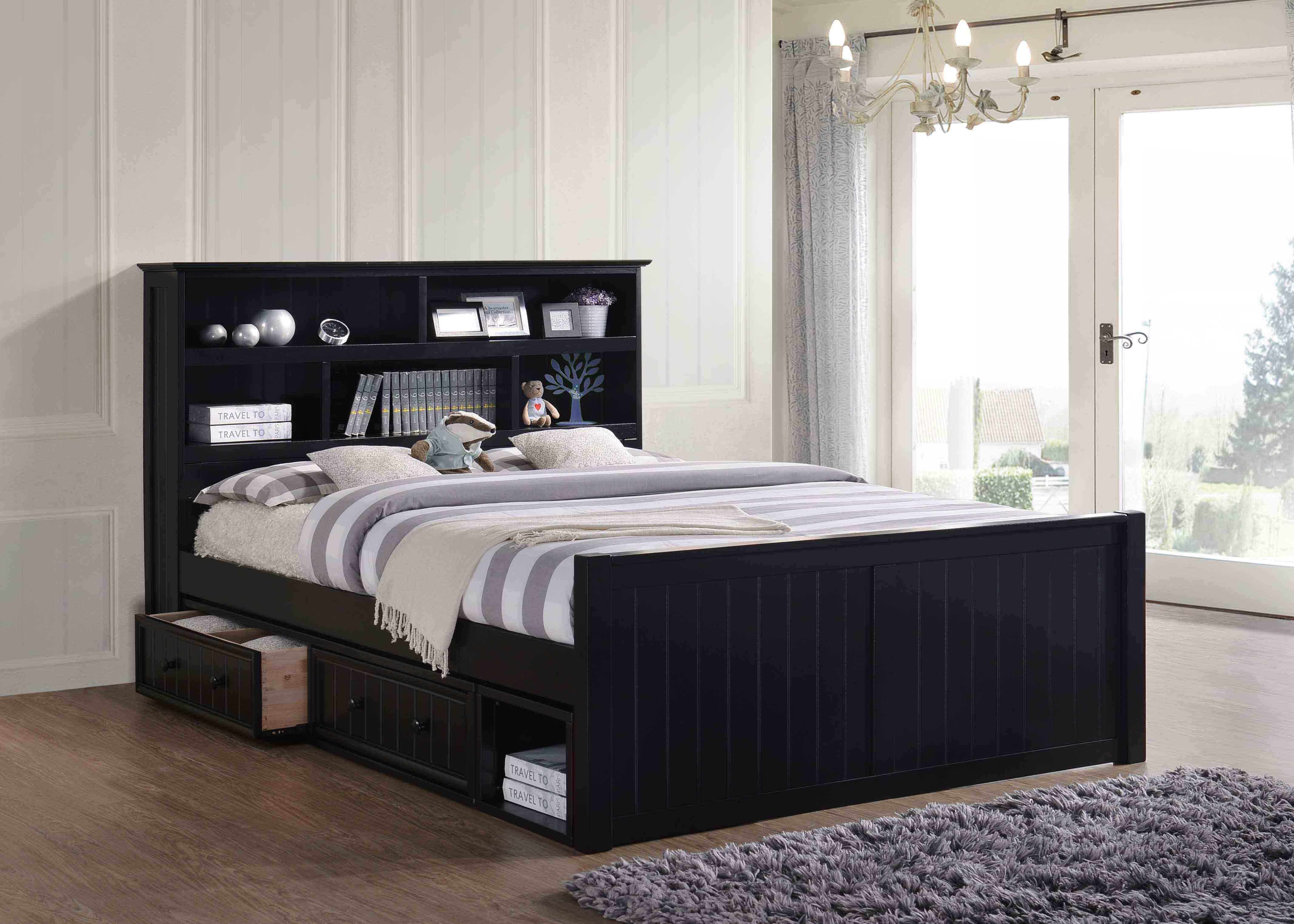 Dillon Queen Bookcase Captain's Bed