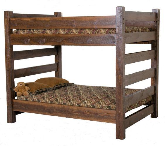 Lodge Queen Over Queen Wood Bunk Bed
