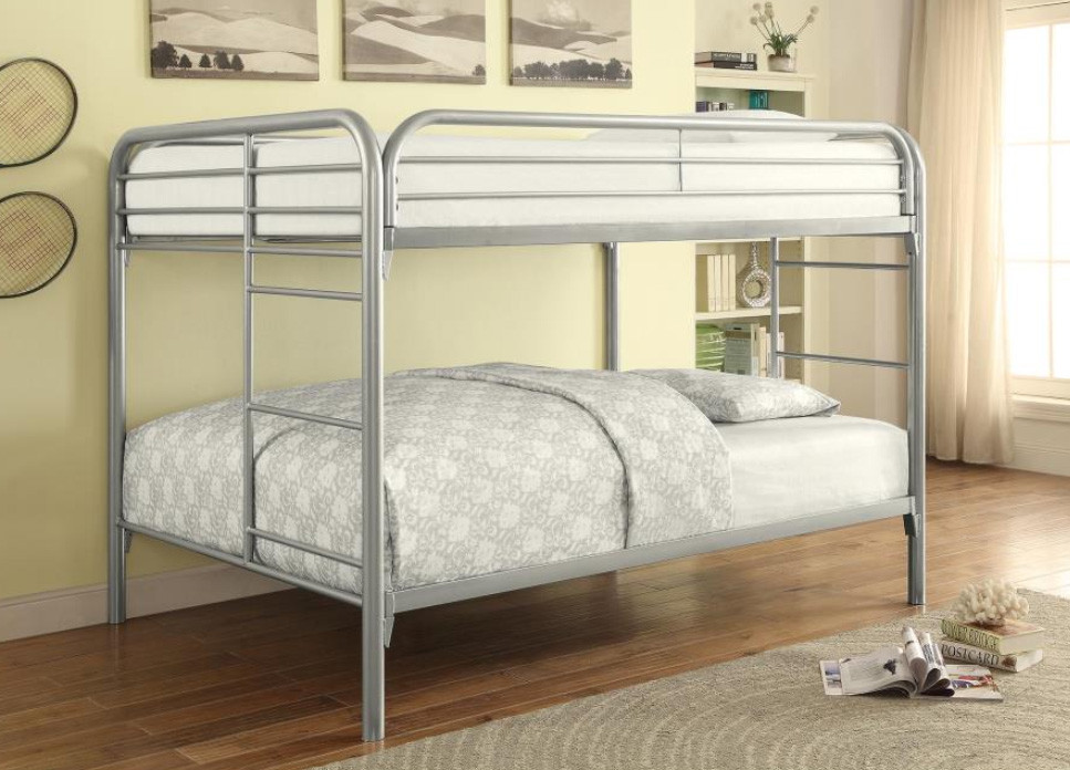 Adrian Full Size Metal Bunk Bed  with Full Top and Bottom