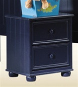 Montclair Two Drawer Navy Blue Night Stand | Blue Night Stand