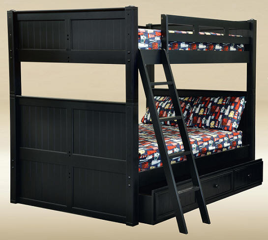 Dillon Queen Over Queen Bunk Bed With Storage And Trundle