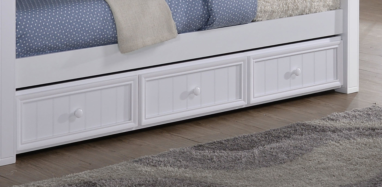 Accessories choose an option under bed drawers trundle bed none -  Drawers Cubbie Optional Trundle Bed