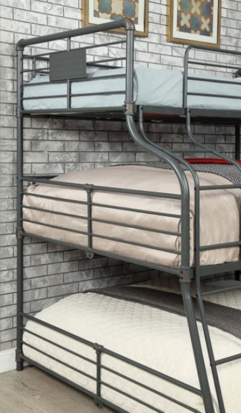 Piping Style Twin On Full Queen Bunk