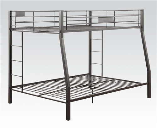 Black XL Full Over Queen Bunk Bed