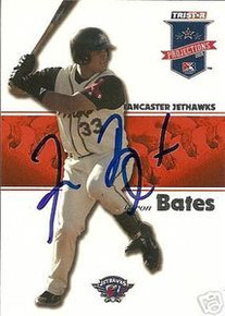 Aaron Bates Signed 2008 Projections Card Boston Red Sox