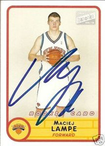 Maciej Lampe Signed New York Knicks Bazooka Rookie Card