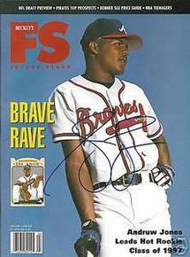 Andruw Jones Autographed Atlanta Braves Future Star Beckett