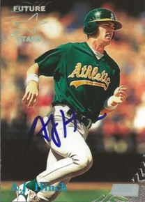 A.J. Hinch Signed Oakland A's 1998 Stadium Club Card