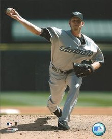 A.J. Burnett Toronto Blue Jays Unsigned Road 8x10 Photo