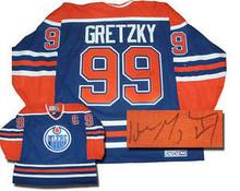 Wayne Gretzky Autographed Edmonton Oilers Road Blue Jersey