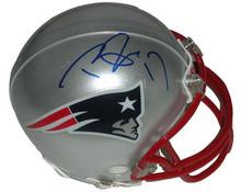 Taylor Price Autographed New England Patriots Mini Helmet