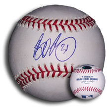Brad Penny Autographed MLB Baseball Dodgers Tigers