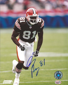 Quincy Morgan Autographed Cleveland Browns Home 8x10 Photo