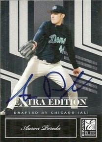 Aaron Poreda Signed 2007 Donruss Elite Card Padres