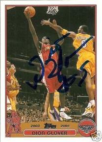 Dion Glover Signed Atlanta Hawks 2003-2004 Topps Card