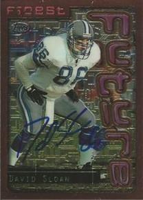 David Sloan Signed Detroit Lions 1996 Topps Finest Card