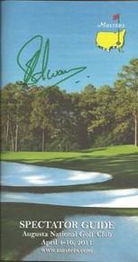 Charl Schwartzel Signed 2011 Masters Spectator Guide