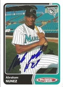 Abraham Nunez Signed Marlins 2003 Topps Total Card