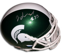Jeremy Langford Autographed Michigan State Spartans Mini Helmet