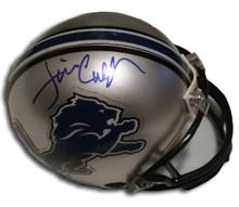 Jim Caldwell Autographed Detroit Lions Mini Helmet