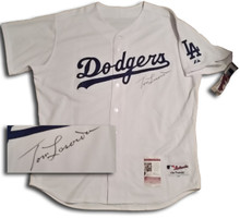 Tommy LaSorda Autographed Los Angeles Dodgers Authentic Jersey JSA