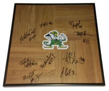 2013-2014 Notre Dame Lady Irish Women Team Signed Framed Floorboard