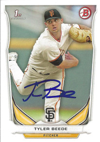 Tyler Beede Autographed Giants 2014 Bowman Rookie Card