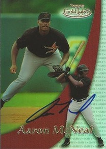 Aaron McNeal Signed Astros 2000 Topps Gold Label Card