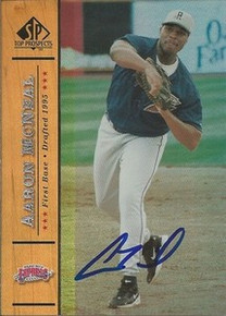 Aaron McNeal Signed 2000 UD SP Card Houston Astros