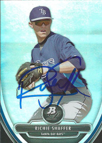 Richie Shaffer Autographed Tampa Bay Rays 2013 Bowman Platinum Card