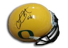 Charles Nelson Autographed Oregon Ducks Yellow Alternate Mini Helmet