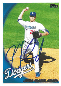 Jon Garland Autographed Los Angeles Dodgers 2010 Topps Card