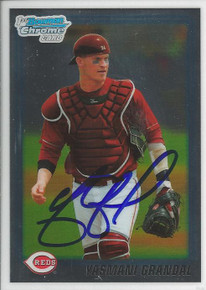 Yasmani Grandal Signed Cincinnati Reds 2010 Bowman Chrome Rookie Card