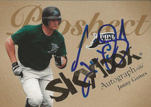 Jonny Gomes Autographed Tampa Bay Rays 2004 Skybox Autographics Card