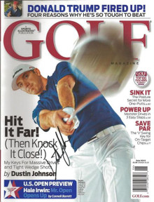 Dustin Johnson Signed Golf Magazine June 2010