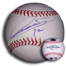 Chin Lung Hu Autographed MLB Baseball Los Angeles Dodgers