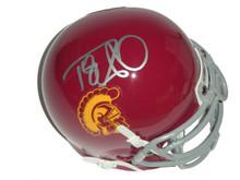 Damian Williams Signed USC Trojans Schutt Mini Helmet