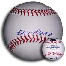 Angel Villalona Autographed MLB Baseball San Francisco Giants