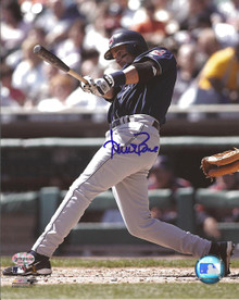 Aaron Boone Autographed Cleveland Indians Hitting 8x10 Photo