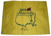 Nick Faldo Signed 2010 Masters Tournament Golf Pin Flag