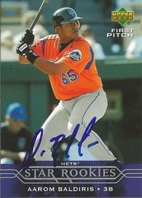 Aarom Baldiris Signed New York Mets 2004 UD Rookie Card AUABALDIRIS04UDFP