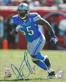 Stephen Tulloch Autographed Detroit Lions Photofile 8x10 Photo