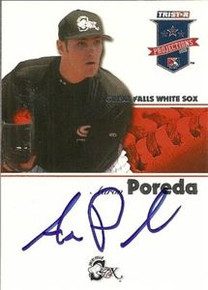 Aaron Poreda Signed 2008 Projections Card Padres
