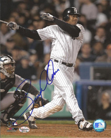 Bobby Abreu Autographed New York Yankees Home 8x10 Photo