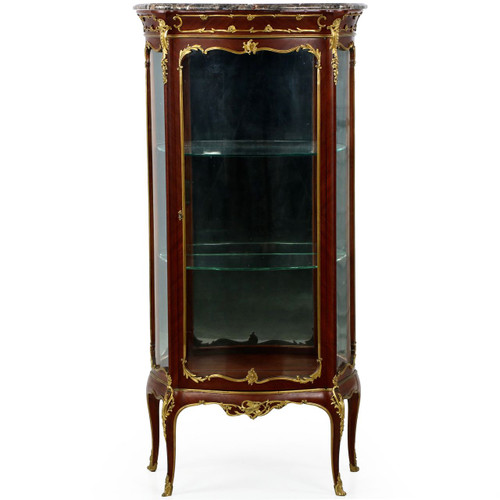 Exquisite French Louis XV Ormolu Mounted Kingwood Vitrine Cabinet